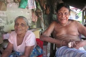 Premawathe Ukuna and Maha Puthiasay are one of the several couples at the Hendala Leprosy Hospital. Credit: Ross Velton