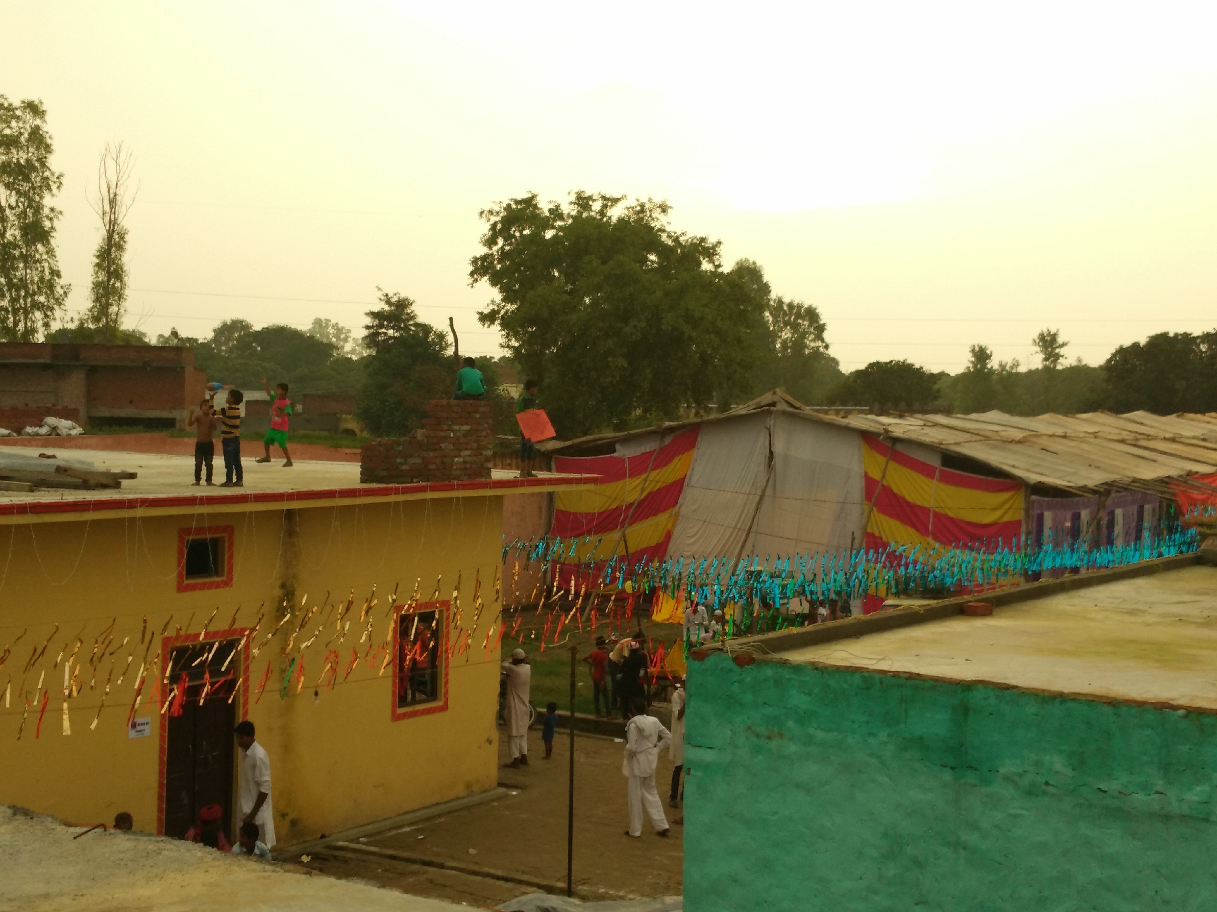 Apna Ghar Colony decorated for the official inauguration. Credit: Jahnavi Sen