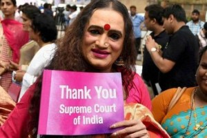 New Delhi: Transgender activist Laxmi Narayan Tripathi (L) during an event celebrating one year of the Supreme Court judgement recognising the Third Gender in New Delhi on Wednesday. Credit: PTI
