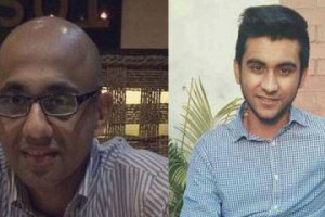 Hasnat Reza Karim and Tahmid Hasib Khan are both survivors of the terrorist attack in Dhaka last month, who are now accused of being accomplices to the attackers despite a lack of substantive evidence. Credit: Twitter/UND