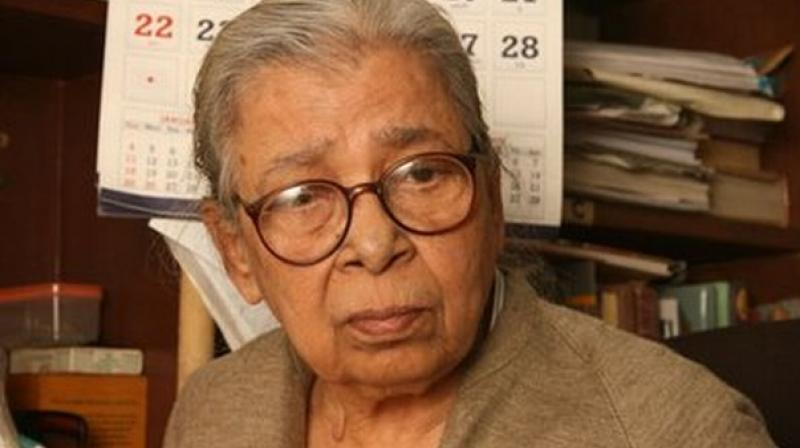 Celebrated Bengali author Mahasweta Devi. Credit: PTI