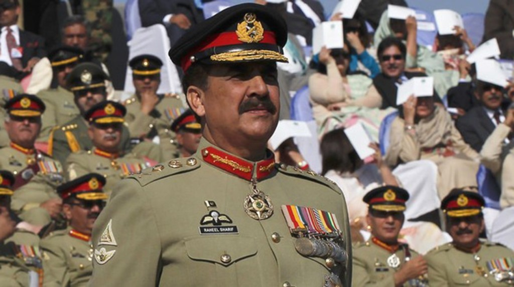 File photo of General Raheel Sharif, army chief of Pakistan. Credit: Reuters