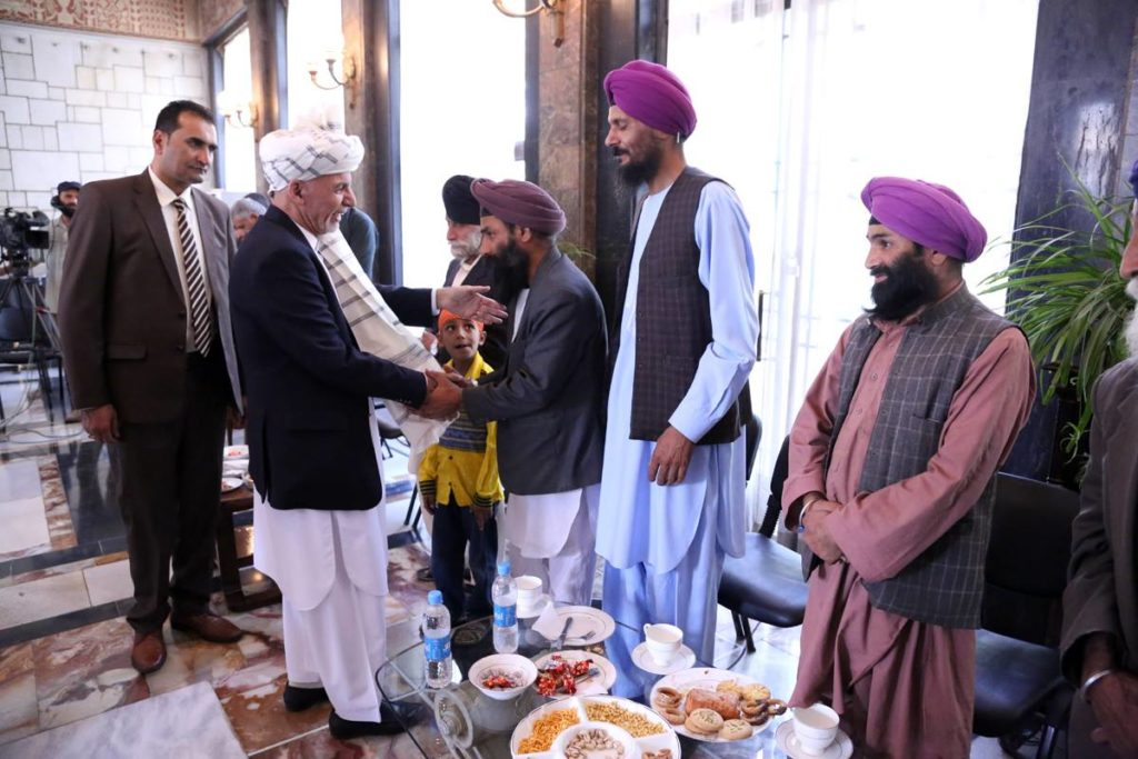 Afghan President Ashraf Ghani invited members of the Sikh community to the palace for Eid celebrations last week. Credit: ARG - ارگ/ Facebook