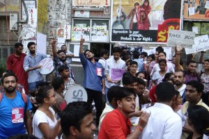 AISA and SFI supporters. Credit: Rajesh Mishradyfi/Facebook