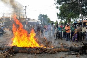 Violent protests stemming from the Cauvery dispute have put Bengaluru on edge. Credit: PTI