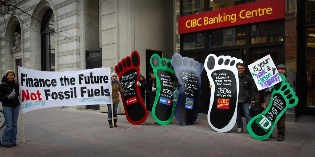 Protest against fossil fuels. Credit: Itzafineday/flickr/CC BY 2.0
