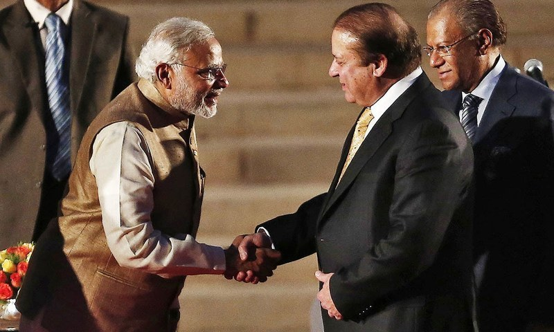 Prime Minister Narendra Modi meeting his Pakistani counterpart Prime Minister Nawaz Sharif in May, 2014. Credit: Reuters