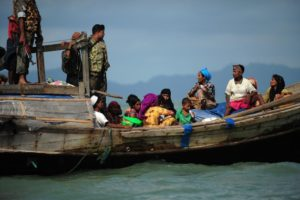 Border guards in Bangladeshrefusing entry to Rohingya refugees from Myanmar in 2012. Credit: Anurup Titu/IPS