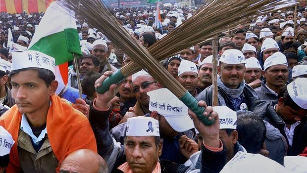 AAP rally in Delhi. Credit: PTI