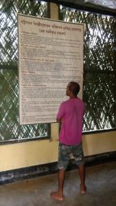 Mahanta reading the UN declaration. Credit: Sangeeta Barooah Pisharoty