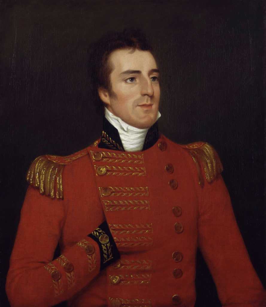 Portrait of Arthur Wellesley, 1st Duke of Wellington painted while he was serving in India. He is depicted in his Major-General's uniform. Credit: Wikimedia Commons