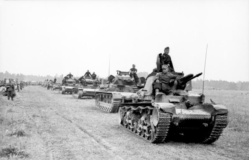 Panzers in France, 1940. Credit: Wikimedia Commons