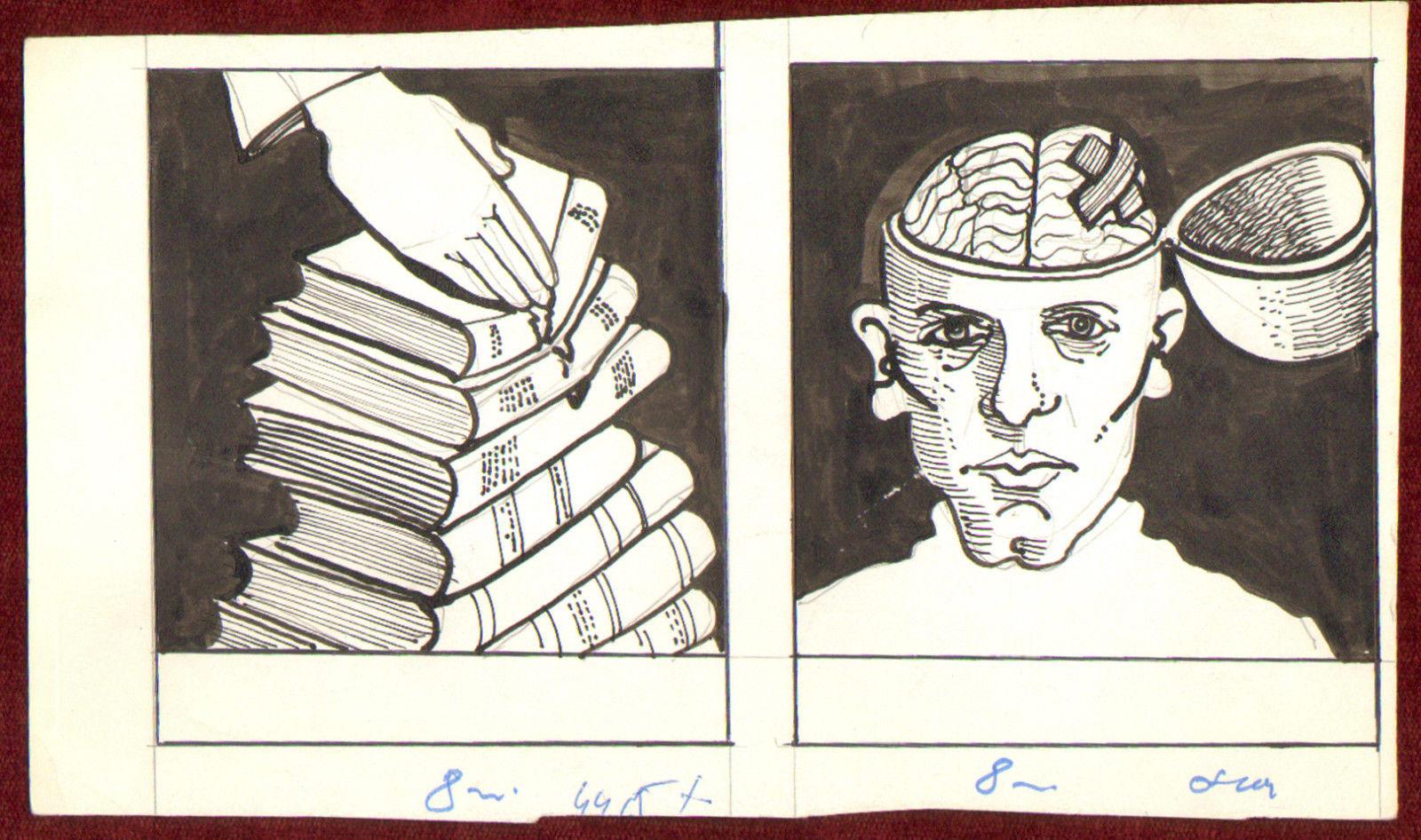 Censorship. Credit: Postcard drawing by an unidentified Yugoslav artist.