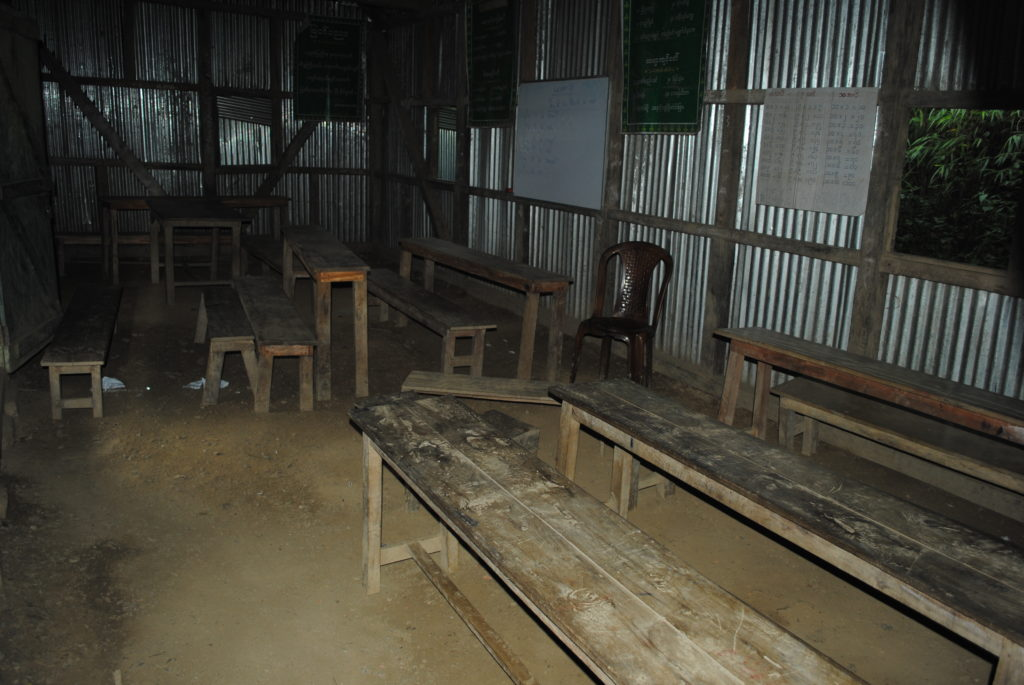 A classroom in the Myanmarese school. Credit: Rajeev Bhattacharya