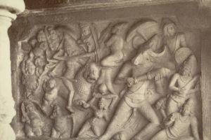 conflict_of_durga_with_mahishasur_-_mahishasuramardini_cave_temple_mamallapuram_c-_1880