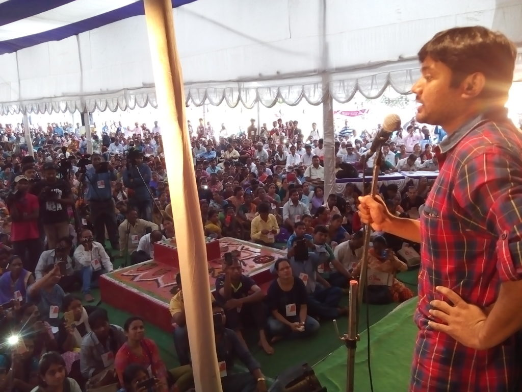 Kanhaiya Takes On Modi Government at Right to Food Campaign Event