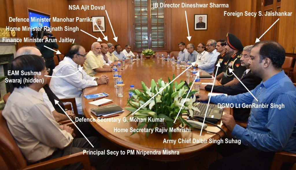 Who attended the CCS meeting chaired by Prime Minister Narendra Modi this morning? Credit: PIB