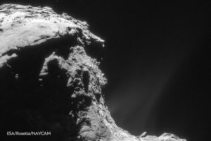Comet 67P/C-G, which the probe Rosetta will speed into on September 30. Credit: Rosetta NAVCAM/ESA