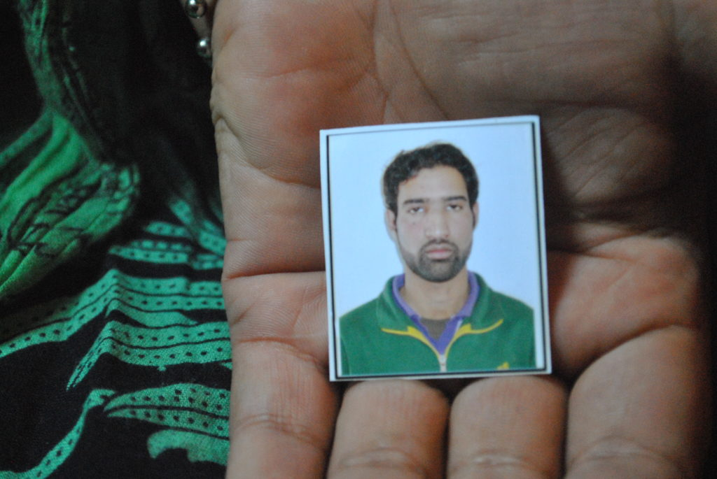 Picture of Javed Ahmed Naijad, the carpenter shot on August 16. Credit: Rohini Mohan