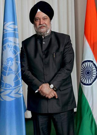 Former Indian Ambassador to the UN Hardeep Singh Puri. Credit: PTI
