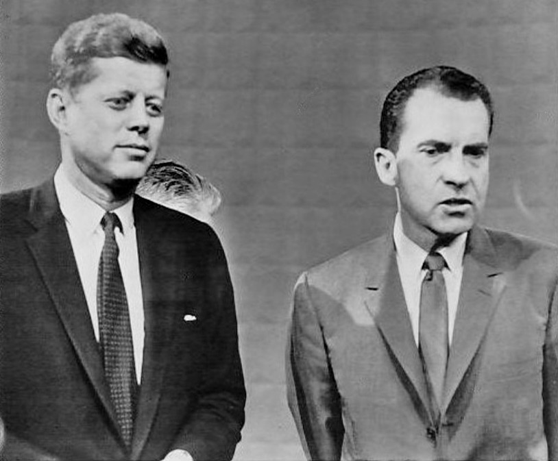 Kennedy and Nixon at the 1960 debate. Credit: Wikimedia Commons