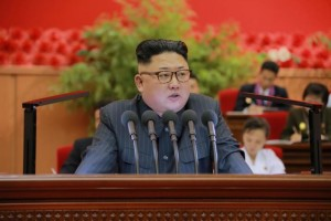 North Korean leader Kim Jong Un gives a speech at the 9th Congress of the Kim Il Sung Socialist Youth League in this undated photo released by North Korea's Korean Central News Agency (KCNA) in Pyongyang on August 29, 2016. KCNA/ via REUTERS