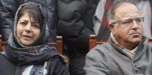 File photo of Mehbooba Mufti and Tariq Hamid Karra. Credit: PTI