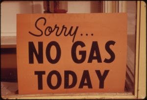 Signs like these were a common sight in Oregon during the 1970s crisis. Credit: Wikimedia Commons