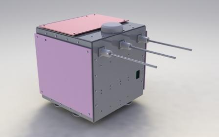 A computer rendering of Pratham, a microsatellite built by the students of IIT-Bombay. Credit: iitb.ac.in