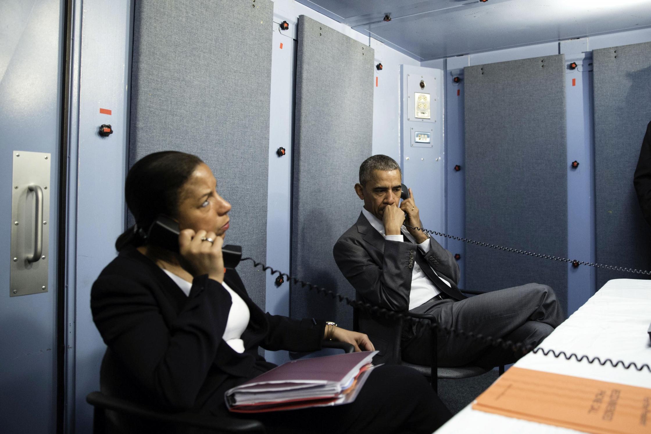 File photo of US President Barack Obama and national security adviser Susan Rice. Credit: Wikimedia