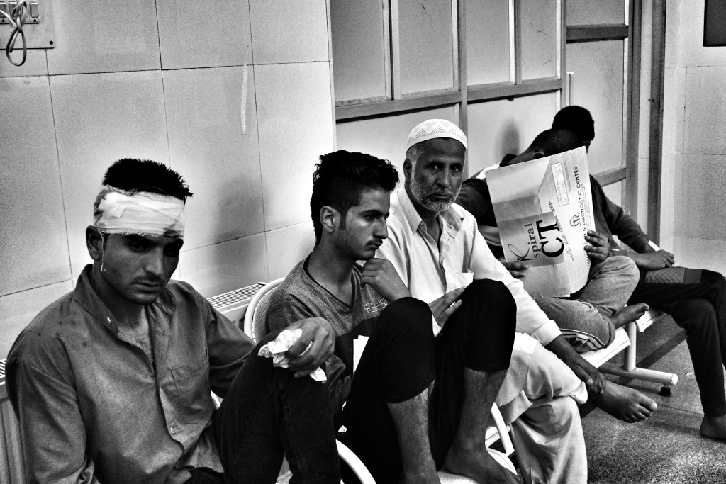 Que at the opthalmology ward in SHMS hospital in Kashmir. Credit: Shome Basu