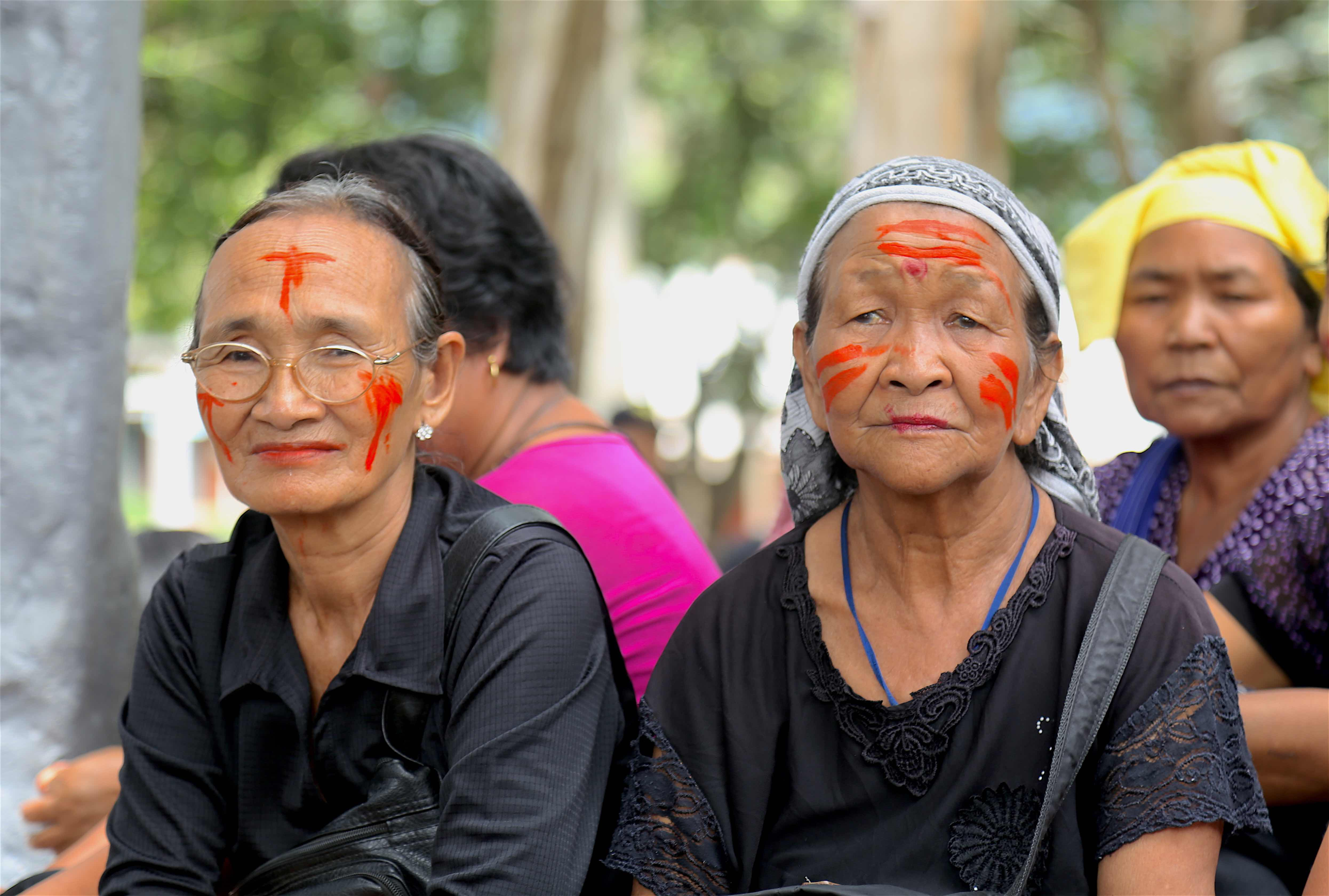 A lot of senior citizens joined the Churachandpur protest by tribals, August 31, 2016. Credit: Akhil Kumar