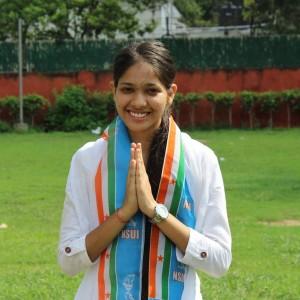 Vinita Dhaka, NSUI's candidate for secretary. Credit: Facebook