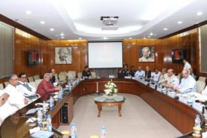 Union Home Minister Rajnath Singh chaired an all-party meet in New Delhi. Credit: Twitter