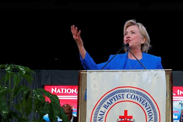 As Polls Tighten, Clinton Shifts Focus to Herself Instead of Trump
