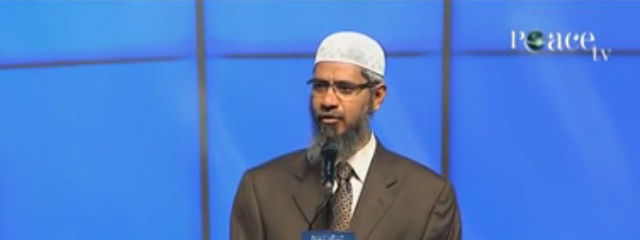 Zakir Naik. Credit: Youtube screenshot