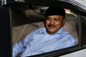 NSA Ajit Doval leaves after a meeting called by home minister Rajnath Singh to review the situation arising out of the militant attack in Uri, at his residence in New Delhi on Sunday. Credit: PTI Photo by Subhav Shukla