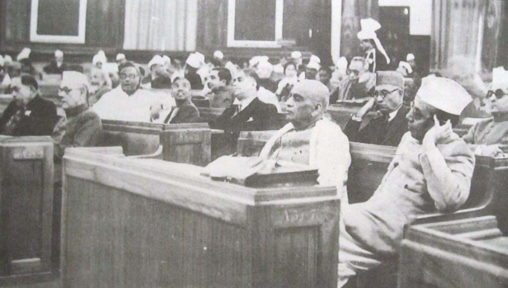 The first day of the Constituent Assembly of India. Credit: Wikimedia Commons