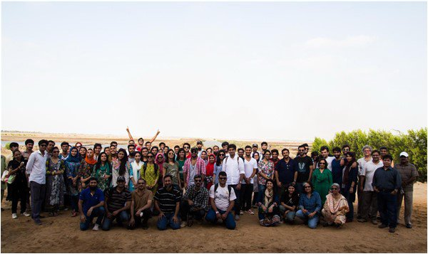Members of KAS gathered for a night of sky-watching in Mirpur Sakro. Credit: The Friday Times