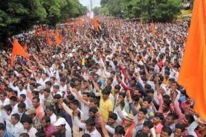 File picture of a rally of Marathas in Parbhani in Maharashtra. Credit: PTI