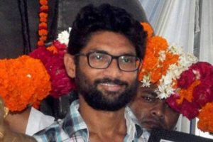 File picture of Gujarat Dalit leader Jignesh Mevani who was arrested in Ahmedabad on Friday. Credit: PTI