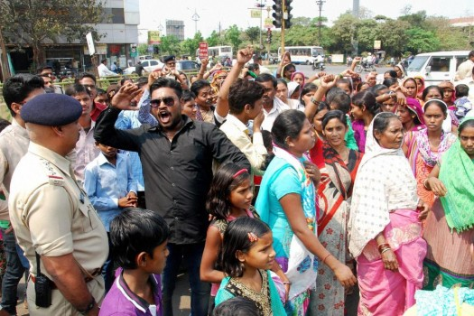 File photo of members of the Christian community protesting in Raipur against attacks on churches. Credit: PTI