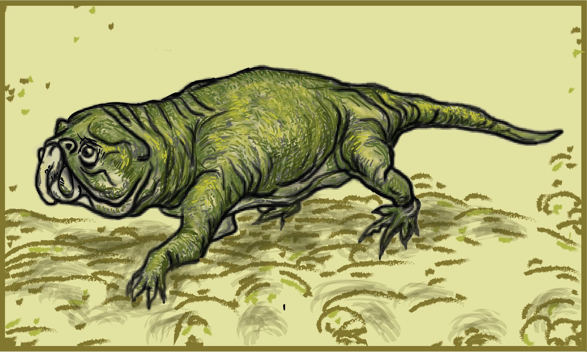 A rhynchosaur. Credit: Ita Mehrotra