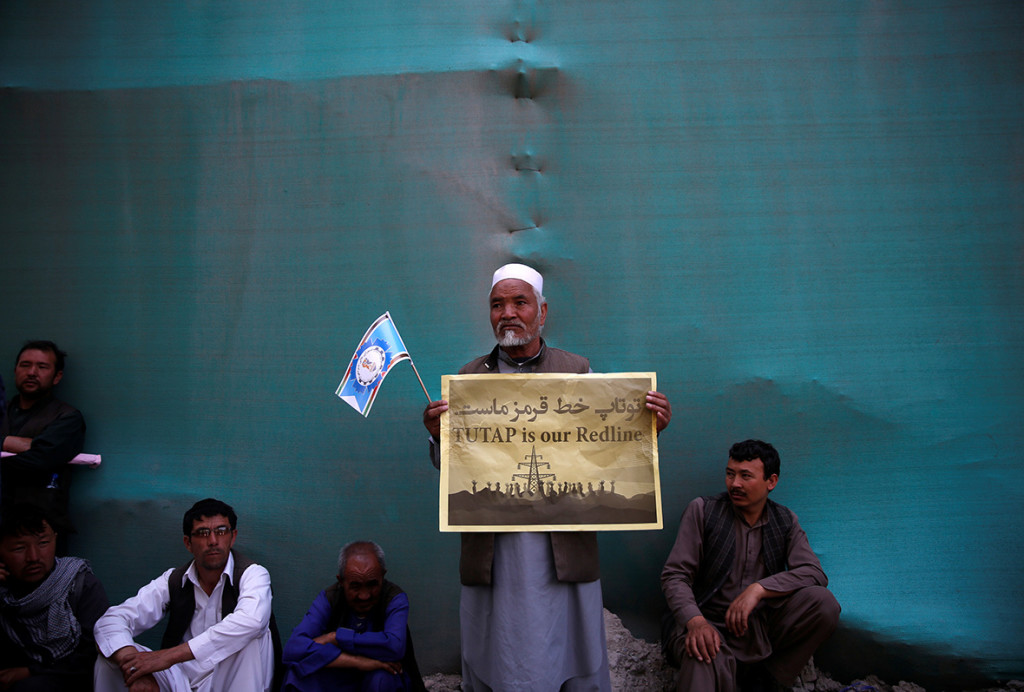 Demonstrators from Afghanistan's Hazara minority attend a protest. Credit: Ahmad Masood/ Reuters