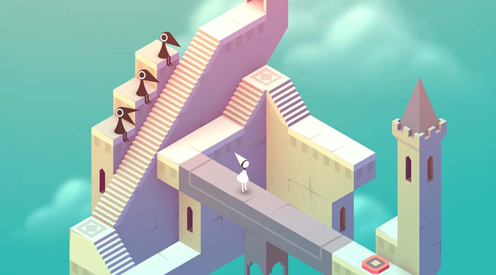 Monument Valley gameplay, featuring a graceful, almost-genderless princess, Ustwo (2014)