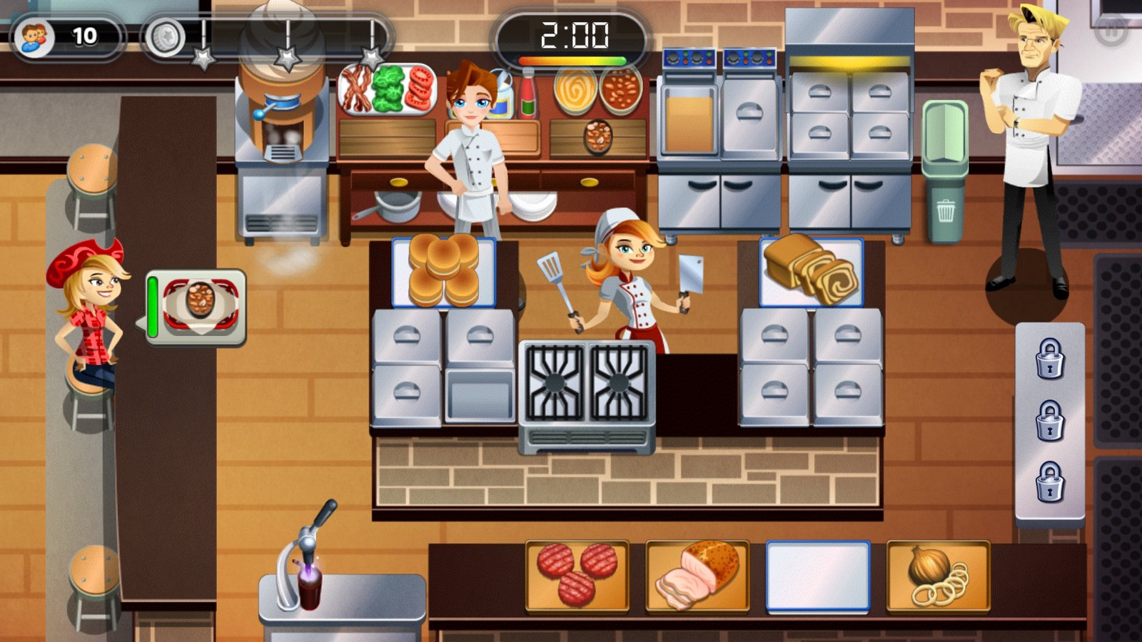 Gordon Ramsay Dash gameplay, Glu Mobile (2016)