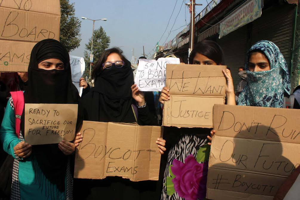 Students Say Holding Exams Is Not the Way to Restore Normalcy in Kashmir