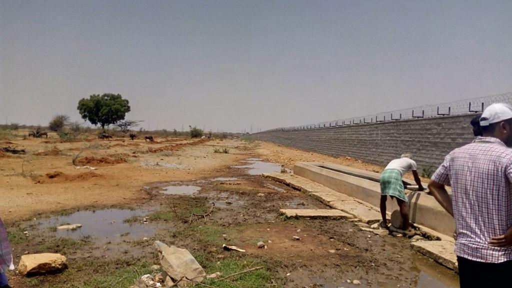 Goshala water trough inside BARC compound. Credit: Gaurav Mendiratta