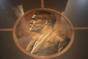An engraved bust of Alfred Nobel. Credit: sol_invictus/Flickr, CC BY 2.0