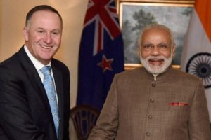 New Zealand Prime Minister John Key with Prime Minister Narendra Modi. Credit: PTI/File Photo
